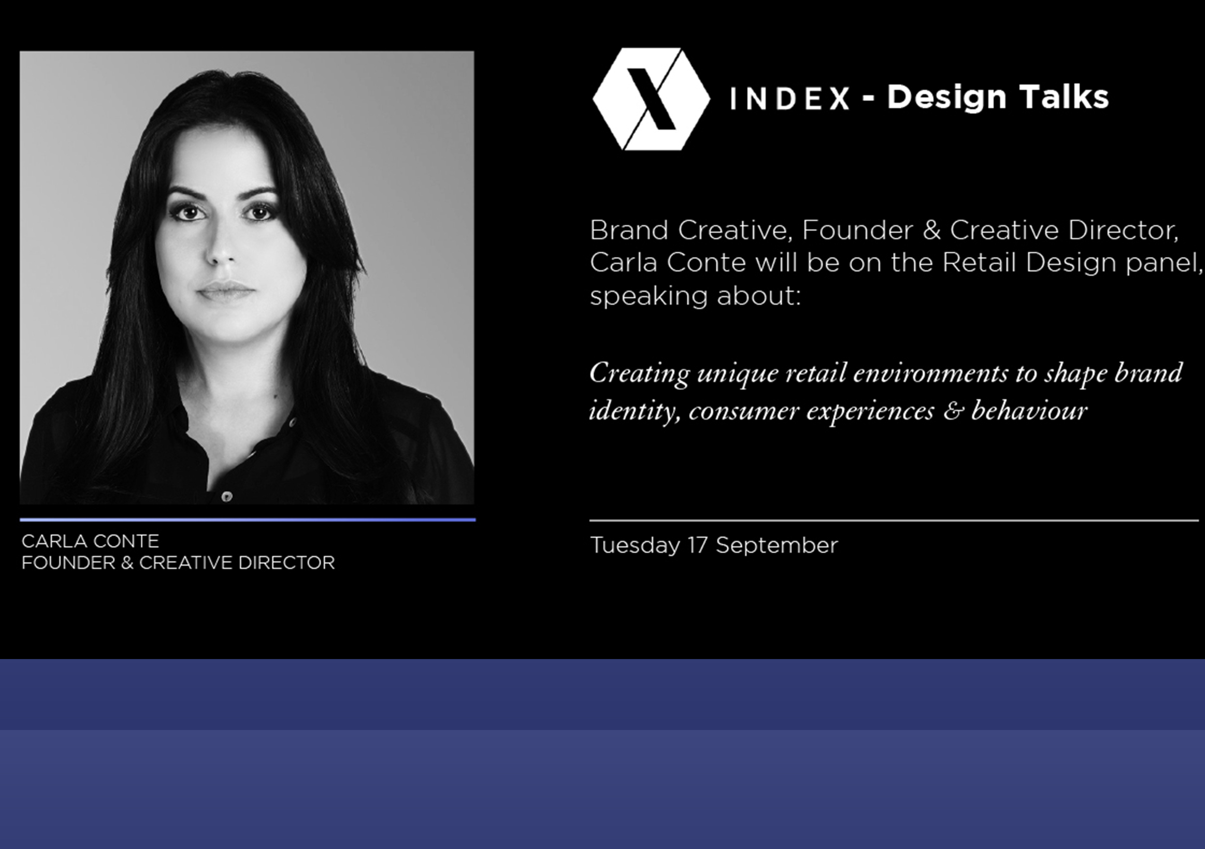 Carla featured as a panel speaker at the Index design talks 2019