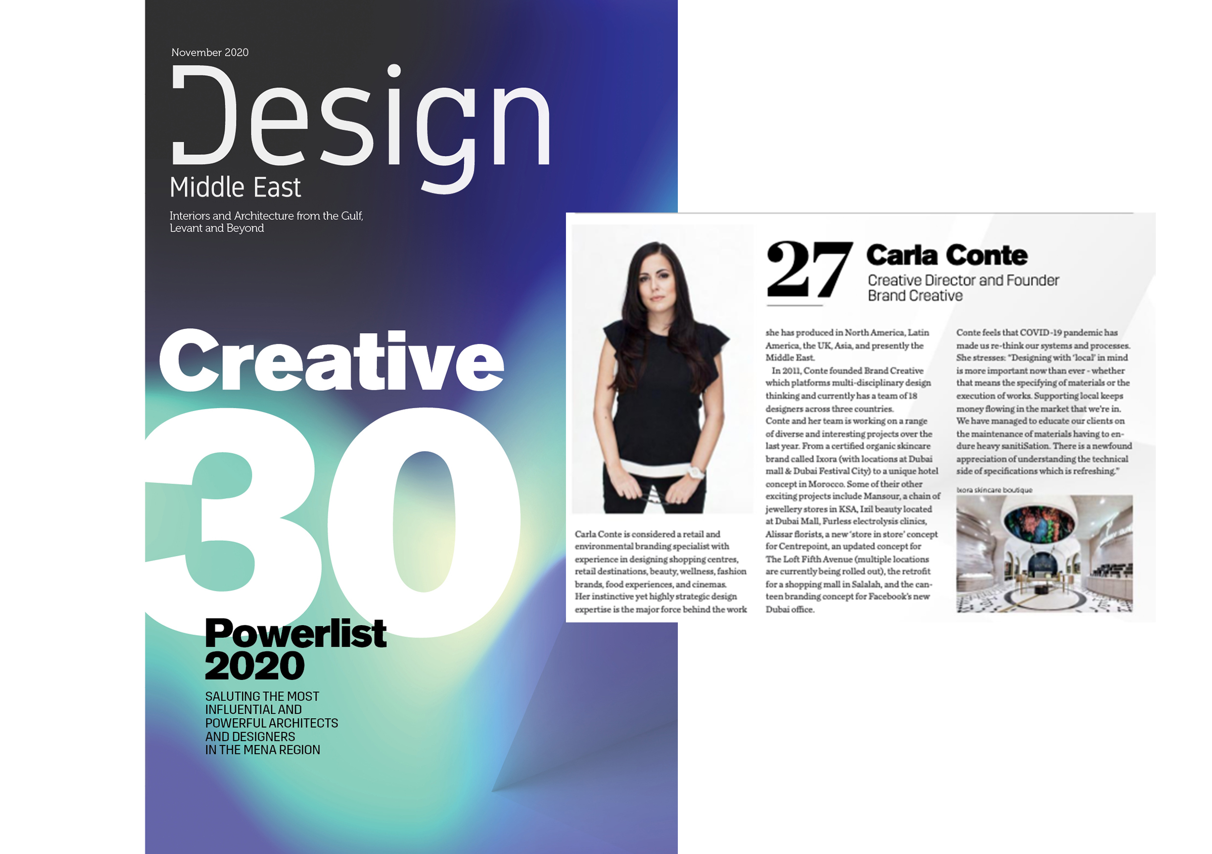 Brand Creative's Founder & Creative Director Features in Design Middle East's Creative 30 List